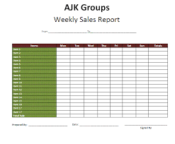 Sample Report Template For Business Company Weekly Sales Activity Report Template Example V M D Com