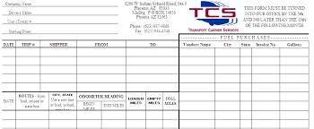 trip sheet tcs forms