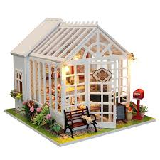 modern doll furniture. diy happy kitchen doll house miniature cake shop wooden dollhouse furniture kit led light for childen modern n