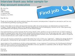 Executive Interview Thank You Letter Email Milviamaglione Com