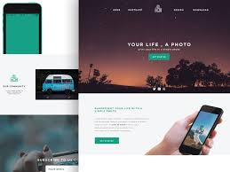 Phototime Psd Website Template Freebiesbug
