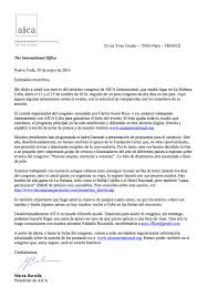 Letter from the president about the next congress SP