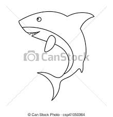 Shark Icon Outline Singe Animal Icon From The Big Animals Outline Stock Vector