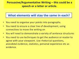 writing to argue info and ideas exam persuasive argumentative