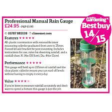 Cm1016 Professional Manual Rain Gauge Climemet