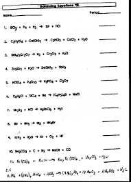 foxy balancing chemical equations worksheet answers 110 questions