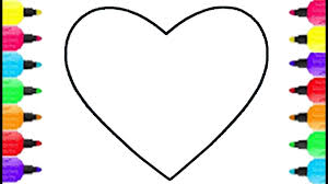 Small Picture Heart Shape Coloring Pages Coloring Colorful Flower With Marker