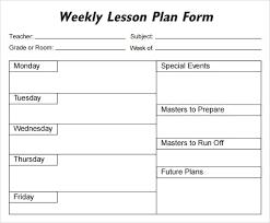 Blank Lesson Plan Templates Horizontal Weekly Blank Lesson Plan Template Before And After School