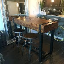 diy bar height table best bar height table ideas on pub m throughout butcher block bar