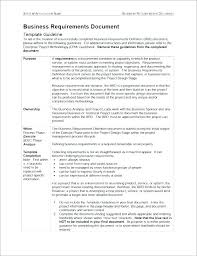 Business Requirement Example Business Requirements Template Software Development Implementation