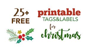 Over 40 Free Printable Christmas Gift Tags Five Spot Green