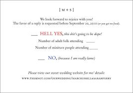 How To Respond To Wedding Invitation Response Cards Elegant Fun
