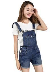 plus size overalls shorts 2018 korean stylen women casual denim jumpsuit decor loose short