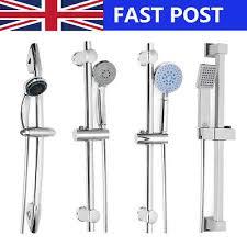 chrome bathroom adjule shower riser rail bracket shower head holder bar kit