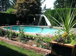 backyard with pool design ideas. Best Inground Pool Landscaping Ideas Beautiful For Swimming Pools Design Backyard With