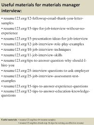 top materials manager resume samples 14 useful materials for materials manager