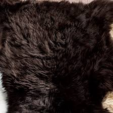 brown large sheepskin rug