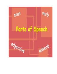 Parts Of Speech Flip Chart Parts Of Speech Interactive Whiteboard Flipchart