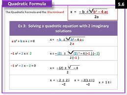 ex 3 solving a quadratic equation with 2 imaginary solutions