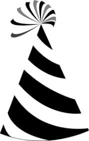 birthday hat clip art black and white. Black And White Party Hat Clip Art For Birthday