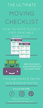 How To Move Guide The Ultimate Moving Checklist Flourishmentary