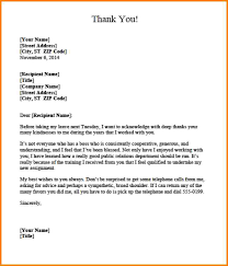 Sample Thank You Letter To Boss Green Brier Valley