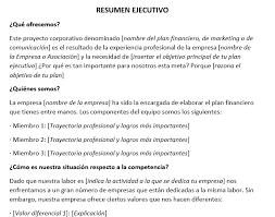 formato de informe en word modelo de resumen ejecutivo modelo de informe ejecutivo en word