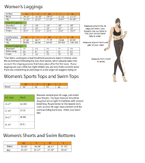 Tesla Size Chart Yd Size Chart Recycled Activewear Made By Free Range