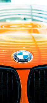 BMW logo, orange car 1242x2688 iPhone ...