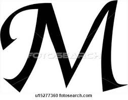 fancy letter m fancy letter m clipart letters