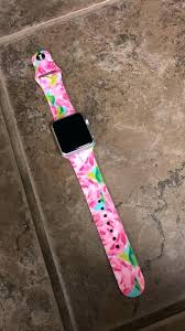 personalized apple watch bands custom lilly printed leather