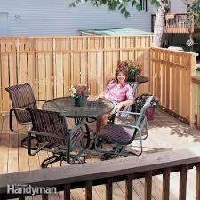 Privacy deck rail Privacy Porch Deck Privacy Fence The Family Handyman Deck Privacy Fence The Family Handyman