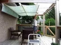 retractable pergola canopy. DIY Retractable Pergola Canopy Awning E