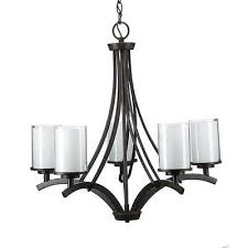 hampton bay 5 light oil rubbed bronze ceiling chandelier