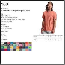 Personalize Anvil 980 Unisex Lightweight T Shirt 4aprints