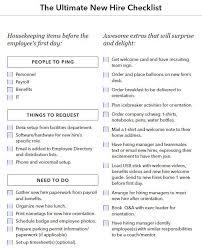 new employee orientation schedule new hire onboarding checklist onboarding onboarding checklist