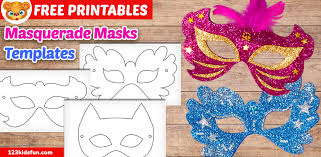 Free printable masquerade masks template for kids. Free Printable Masquerade Masks Template 123 Kids Fun Apps