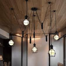 Retro lighting Ceiling Diy Pendant Lights Modern Nordic Retro Hanging Lamps Edison Bulb Fixtures Spider Ceiling Lamp Fixture Light For Living Room Island Lighting Hanging Lanterns Mélange Paris Diy Pendant Lights Modern Nordic Retro Hanging Lamps Edison Bulb