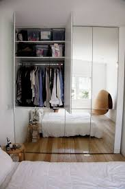 Mirrored cabinet design ideas for small bedrooms.