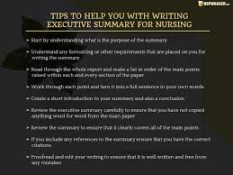 How To Create An Executive Summary In Word Write An Effective Nursing Executive Summary