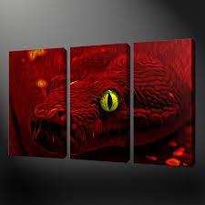 red snake canvas wall art picture print free uk delivery