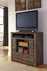 Quinden Media Chest; Fireplace Optional