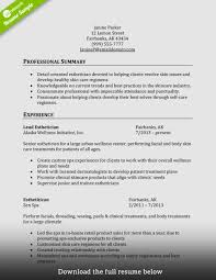 Resume Examples For Cosmetologist Resume For Cosmetologist Unique How To Write A Perfect Cosmetology 19