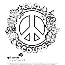 Girl Scout Daisy Coloring Pages Coloring Girl Scout Daisy Coloring