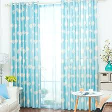 panel curtains casual clouds pattern blue and white panel curtains panel track curtains for sliding glass