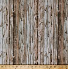 cotton barn wood wooden boards floorboards planks timber lumber building houses wall carpenter carpentry landscape hold your horses tan cotton fabric print