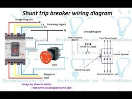 shunt trip breaker wiring diagram in urdu & hindi how to Epo Shunt Trip Breaker Wiring With On shunt trip breaker wiring diagram in urdu & hindi how to install a shunt trip breaker Shunt Trip Breaker Installation