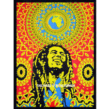 Bob Marley Poster Hippie Rasta Poster Wall Hanging Tapestry