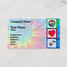 tie dye business cards peace love music tie dye business card zazzle com
