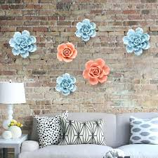 ceramic flowers wall decor style decoration creative mural my product image ceramic flower wall decor